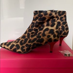 Betsy Johnson Leopard Booties
